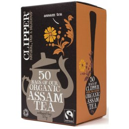 Case of 6 - Clipper Organic Assam Tea - 50 Bags