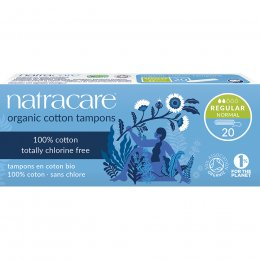 Natracare Organic Cotton Tampons - Regular - Pack of 20