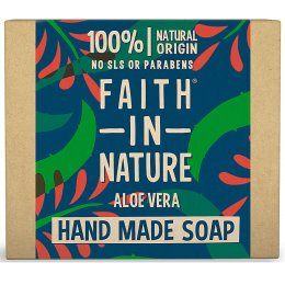 Case of 6 - Faith in Nature Soap - Aloe Vera and Ylang Ylang - 100g