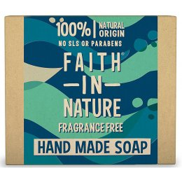 Case of 6 - Faith in Nature Soap - Fragrance Free - 100g