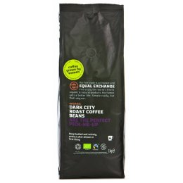 Equal Exchange Organic Whole Beans Dark Roast Coffee- 1kg
