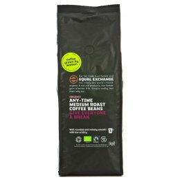 Equal Exchange Organic Whole Beans Medium Roast Coffee - 1kg