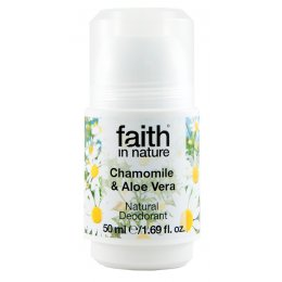 Faith In Nature Roll-on Deodorant - Aloe Vera & Chamomile - 50ml