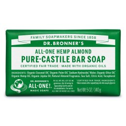 Dr Bronner Organic Almond Soap Bar - 140g