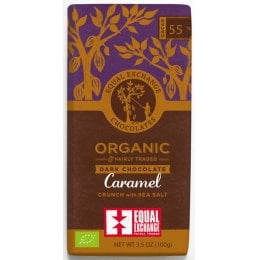 Equal Exchange Organic Caramel Crunch With Sea Salt Dark Chocolate - 100g