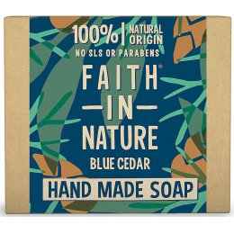 Faith In Nature Mens Blue Cedar Bar Soap - 100g