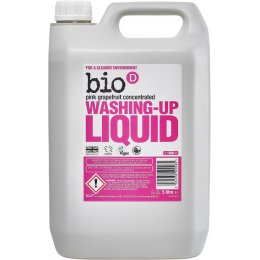 Bio D Washing-up Liquid with Pink Grapefruit - 5L