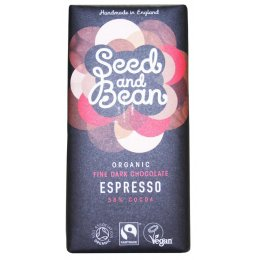 Seed and Bean Organic Fine Dark Chocolate Bar - Espresso - 85g
