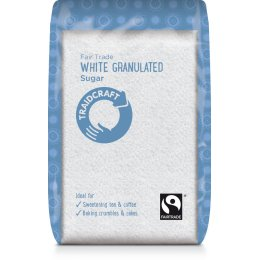 Case of 6 - Traidcraft Fair Trade White Granulated Sugar - 500g
