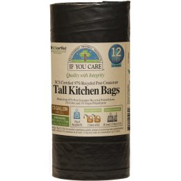 If You Care Recycled Tall Drawstring Kitchen Bin Bags - 49L - 12 Bags