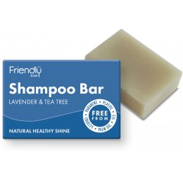 Case of 6 - Friendly Soap Natural Shampoo Bar - Lavender & Tea Tree - 95g