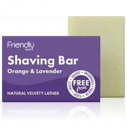 Case of 6 - Friendly Soap Natural Shaving Soap Bar - Orange & Lavender - 95g