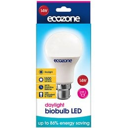 Ecozone B22 Daylight LED Biobulb - 14 Watt - 100 Watt Equivalent