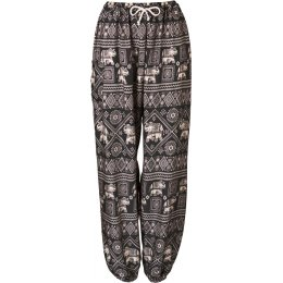 Fair Trade Elephant Print Harem Pants