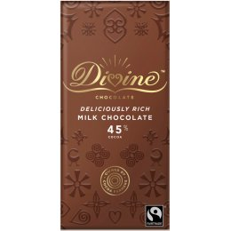 Divine 45 percent  Rich Milk Chocolate - 90g