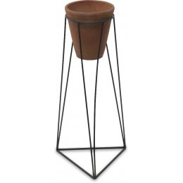 Jara Terracotta Planter with Stand - Large