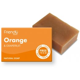 Case of 6 - Friendly Soap Orange & Grapefruit Bath Soap - 95g