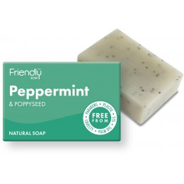 Case of 6 - Friendly Soap Peppermint & Poppy Seeds Bath Soap - 95g