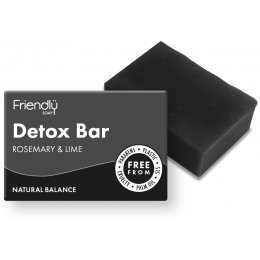 Case of 6 - Friendly Soap With Activated Charcoal Detox Bar - 95g