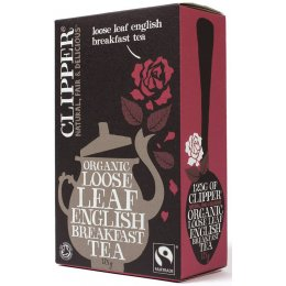 Case of 6 - Clipper Fairtrade English Breakfast Tea - Loose Leaf - 125g