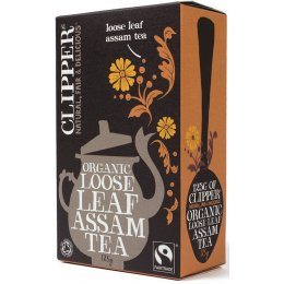 Case of 6 - Clipper Fairtrade Organic Assam Tea - Loose Leaf - 125g