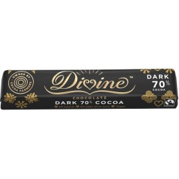 Case of 30 - Divine 70% Dark Chocolate Bar - 35g