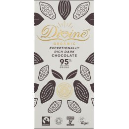 Divine Organic 95 percent  Dark Chocolate Bar - 80g