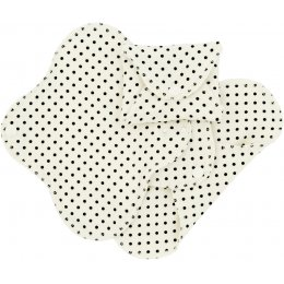 ImseVimse Black Dot Reusable Panty Liners - Pack of 3