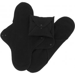 ImseVimse Black Reusable Pads - Night - Pack of 3