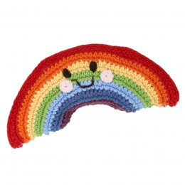 Fair Trade Crochet Friendly Rainbow Rattle