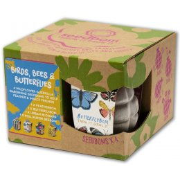 Kabloom Seedbomb Gift Set of 4 - Birds, Bees & Butterflies
