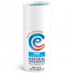 Earth Conscious Pure Unscented Natural Deodorant Stick - 60g