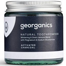 Georganics Natural Toothpowder - Activated Charcoal - 120ml