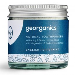 Georganics Natural Toothpowder - English Peppermint - 60ml