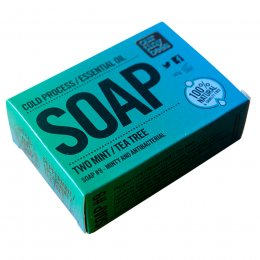 Our Tiny Bees Cold Pressed Soap - Two Mint & Tea Tree - 140g