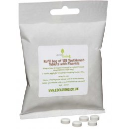 ecoLiving Toothpaste Tablets with Fluoride Bag - 125 Tabs