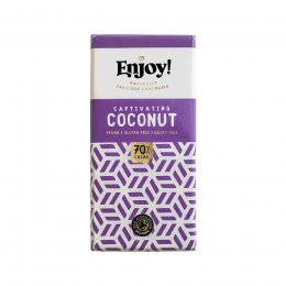 Case of 15 - Enjoy Vegan Coconut Chocolate Bar - 35g