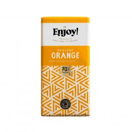 Case of 15 - Enjoy Vegan Orange Chocolate Bar - 35g