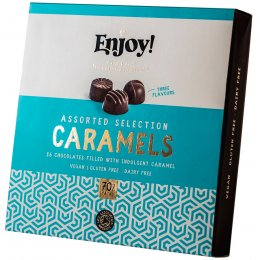 Enjoy Assorted Vegan Caramel Chocolates - Box of 16