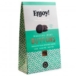 Enjoy Mint Caramel Filled Vegan Chocolate Buttons - 96g