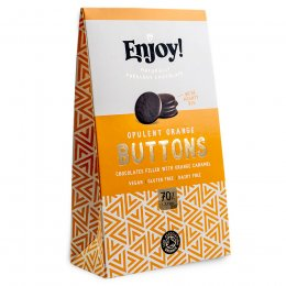 Enjoy Orange Caramel Filled Vegan Chocolate Buttons - 96g