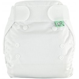 Tots Bots White Peenut Wrap Reusable Nappy - Size 1