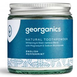Georganics Natural Toothpowder - English Peppermint - 120ml