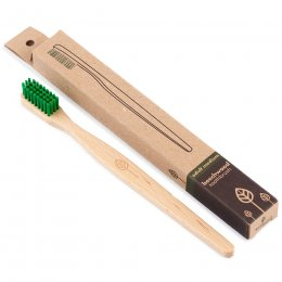 ecoLiving Beech Wood Toothbrush - Medium