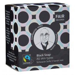 Fair Squared Black Facial Soap with Cotton Soap Bag - All Skin Types - 2 x 80g