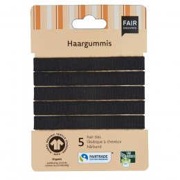 Fair Squared Black Hair Ties - Pack of 5