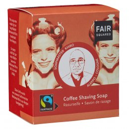 Fair Squared Coffee Shaving Soap with Cotton Soap Bag - 2 x 80g