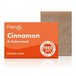 Case of 6 - Friendly Soap Cinnamon & Cedarwood Soap Bar - 95g