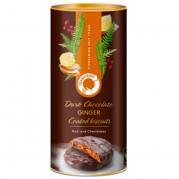 Traidcraft Dark Chocolate Coated Ginger Biscuits - 200g