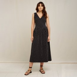 People Tree Robyn Ikat Print Dress